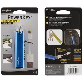 Usb-переходник NITE IZE PowerKey Micro USB цв. синий