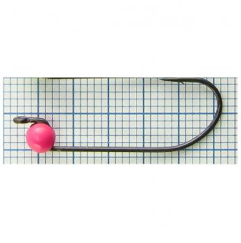 Джиг-головка вольфрамовая РУССКАЯ БЛЕСНА RB-309 кр. № 6 с микробородкой Hayabusa Teflon 0,60 г цв. 273 pink