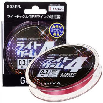 Плетенка GOSEN Light Game PE X4 цв. розовый #0.4 в интернет магазине Rybaki.ru