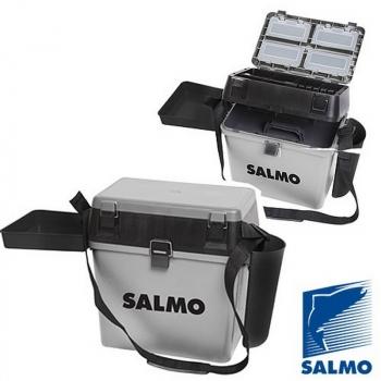 Ящик SALMO 2-Х Ярус.(Из 5-Ти Частей) Пласт. 39,5 х 24,5 х 38 см Сер. в интернет магазине Rybaki.ru