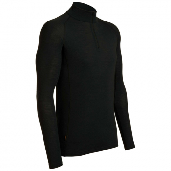 Футболка ICEBREAKER Tech Top Long Sleeve Half Zip 260 цвет Black
