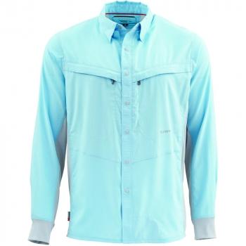 Рубашка SIMMS Intruder BiComp LS Shirt цвет Light Blue