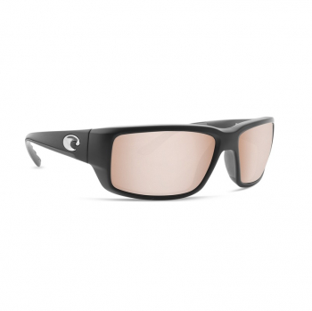 Очки поляризационные COSTA DEL MAR Fantail 580P р. M цв. Matte Black Global Fit цв. ст. Copper Silver Mirror