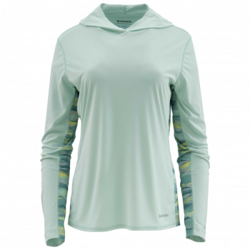 Футболка SIMMS Women's Solarflex Hoody - Print цвет Wintergreen