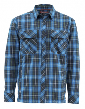 Рубашка SIMMS Guide Insulated Jacket цвет Admiral Blue Plaid