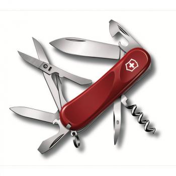 Нож VICTORINOX Evolution S16 85 мм 14 функций цв. красный, карт.коробка