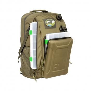 Рюкзак AQUATIC РК-02Х рыболовный с коробками FisherBox (цвет: хаки) в интернет магазине Rybaki.ru