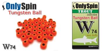 Головка вольфрамовая ONLY SPIN W74 Trout 3,3 мм цв. Красный (5 шт.) в интернет магазине Rybaki.ru