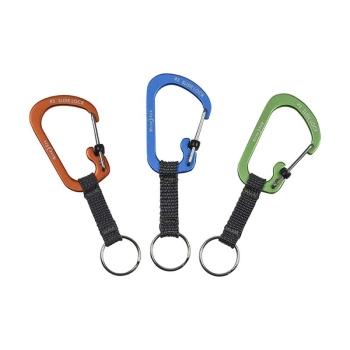 Карабин с блокировкой NITE IZE SlideLock Key Ring р. 3 цв. синий
