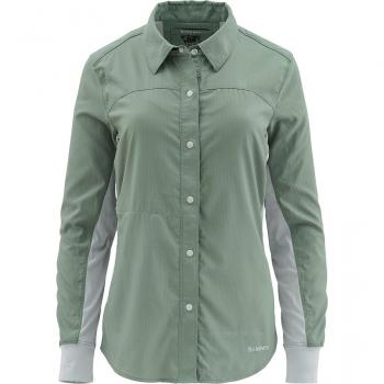 Рубашка SIMMS Women's BiComp LS Shirt цвет Kelp