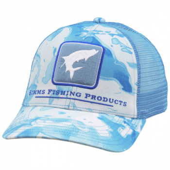 Кепка SIMMS Tarpon Icon Trucker цв. Cloud Camo Blue