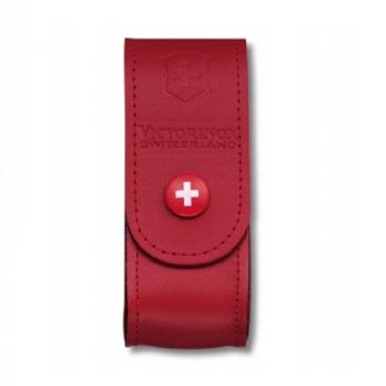 Чехол VICTORINOX для ножа 85 и 91 мм нат.кожа петля красный без упаковки