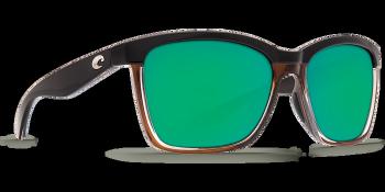 Очки поляризационные COSTA DEL MAR Anaa 580P р. M цв. Shiny Black on Brown цв. ст. Green Mirror
