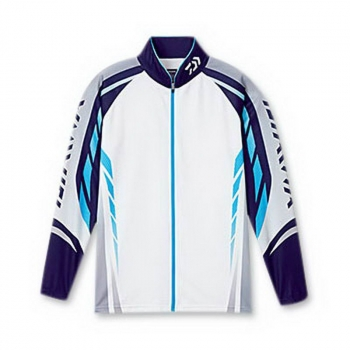 Рубашка рыболовная DAIWA Polo Long Sleeve Wicksensor De-7504 цвет Blue