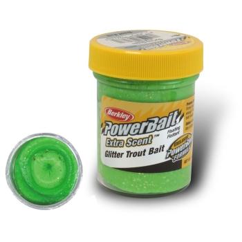 Паста BERKLEY PowerBait Extra Scent Glitter TroutBait цв. Весенний зеленый в интернет магазине Rybaki.ru