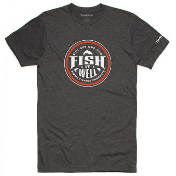 Футболка SIMMS Fish It Well T-Shirt цвет Charcoal Heather