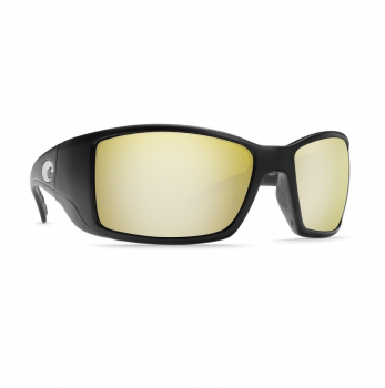 Очки поляризационные COSTA DEL MAR Blackfin 580G р. L цв. Matte Black Global Fit цв. ст. Sunrise Silver Mirror